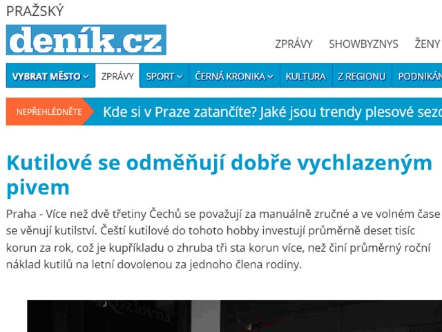 Čeští kutilové na TV Nova v pořadu Víkend